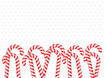 Candy Canes. Background with candy canes and place for your text Vector Illustration