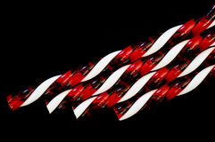 Candy canes on black Royalty Free Stock Image