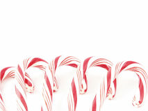 Candy canes border Stock Photography