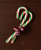 Candy canes in a bow Stock Photo