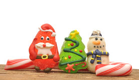 Candy canes and christmas toys Royalty Free Stock Images