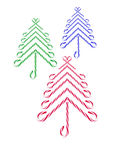 Candy Canes Christmas Trees Royalty Free Stock Photos