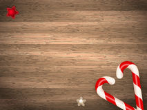 Candy canes. EPS 10 Royalty Free Stock Image