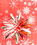 Candy canes forming flower ring Stock Images