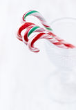 Candy canes in a glass Stock Photos