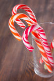 Candy canes in a glass Royalty Free Stock Photography
