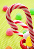 Candy canes and gumdrops Royalty Free Stock Photo