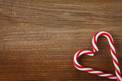 Candy canes heart Royalty Free Stock Images