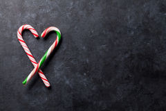 Candy canes heart Stock Images