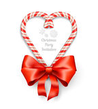 Candy Canes in Heart Shape Stock Photos