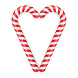 Candy Canes. Heart on white background Vector Illustration