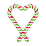 Candy Canes Heart. On white background Stock Images