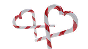 Candy Canes hearts Royalty Free Stock Photo