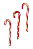 Candy Canes isolated with clipping path Stock Photography