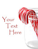 Candy Canes in Jar Stock Photos