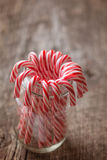Candy canes in a jar Stock Photography