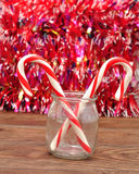 Candy canes in a jar Royalty Free Stock Photography