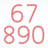 Candy Canes Numbers Stock Image