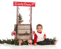 Candy Canes for Sale Stock Photography