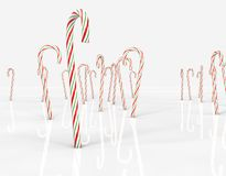 Candy Canes standing upright Stock Photo