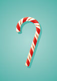 Candy canes. Vector illustration of Candy canes on turquoise background. Ai10 Royalty Free Illustration