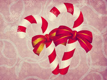 Candy canes vintage background Royalty Free Stock Photography