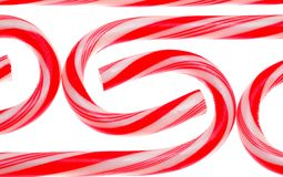 Candy Canes on White. Holiday Candy Canes on white background isolated stock image