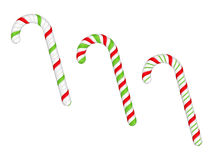 Candy Canes. On white background Royalty Free Stock Image