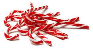 Candy canes. On white background Stock Photography