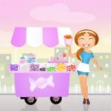 Candy cart Royalty Free Stock Photos