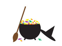 Candy Cauldron Royalty Free Stock Photo