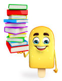 Candy Character With Books pile Stock Images