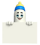 Candy Character With business graph Royalty Free Stock Photos