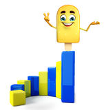 Candy Character With business graph Royalty Free Stock Photo