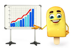 Candy Character With business graph Stock Image