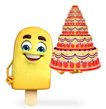 Candy Character With cake Royalty Free Stock Photography
