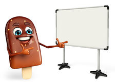 Candy Character With display board Royalty Free Stock Images