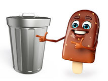Candy Character With dustbin Royalty Free Stock Photos