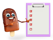 Candy Character With notepad Stock Photo
