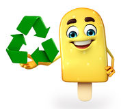 Candy Character With recycle icon Royalty Free Stock Photos