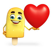 Candy Character With red heart Stock Photos