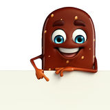 Candy Character With sign Royalty Free Stock Images