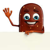 Candy Character With sign Royalty Free Stock Photography