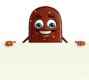 Candy Character With sign Stock Photography