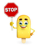 Candy Character With stop sign Royalty Free Stock Images