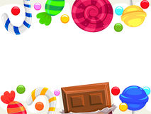 Candy and Chocolate Borders Stock Photography