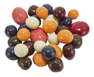 Candy chocolate fruit isolated white Stock Photos