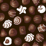 Candy chocolate pattern Stock Photo