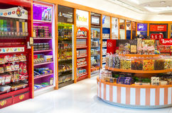 Candy and Chocolate Shop. Variety of sweet and chocolate on display with its dedicated brand. Photo was taken on 05 October 2012 Royalty Free Stock Image