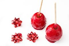 Candy Christmas apples isolated Stock Images